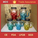 Blouson de base lourde en forme de verres Mason Jars Drinking Mug Cup with Handle