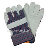 Guanto superiore del lavoro di sicurezza dei guanti della pelle bovina del Rigger dei guanti di cuoio del granulo