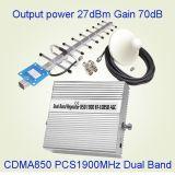 Amplificador dual St-1085b de la señal del teléfono celular de la venda CDMA 850 PCS 1900MHz