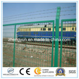 Cerca revestida do PVC para a estrada/proteção Railway