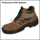 Zapatos de trabajo de la seguridad del cuero del ante de la vaca del precio bajo Ss-142