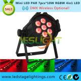 IGUALDAD de la venta caliente 2017 la mini LED puede encender 7PCS*10W RGBW 4in1 Epistar LED para la luz del efecto de etapa