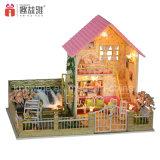 3D подарки популярного милого деревянного Dollhouse игрушки миниатюрного DIY розового воспитательные для фантазии вишни 10 девушок годовалого