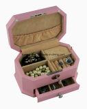 Розовая коробка ювелирных изделий отделки Matt с нот