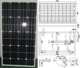 módulo monocristalino del picovoltio del panel solar de 18V 130W con el certificado de la ISO del TUV