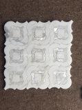 Mattonelle di mosaico di marmo bianche della pietra di disegno
