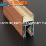 Fabrication en aluminium de profil de guichet en bois normal employé couramment des graines