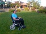 Heißer Verkauf! E-Thron! Leichter elektrischer faltender Mobilitäts-/Hilfsmittel-Roller motorisierte Rollstuhl/Eletric Rollstuhl mit Batterie LiFePO4