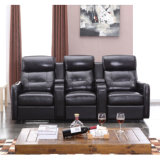 New Arrival Black Color Home Theatre Recliner Sofa 6039TV