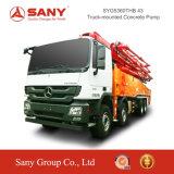 Bomba concreta montada caminhão de Sany 43m da bomba concreta do aperto