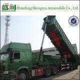De hete Verkopende Semi Aanhangwagen van de Vrachtwagen van de Stortplaats