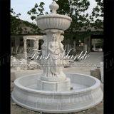 Fontaine blanche Mf-1024 de Carrare de fontaine de pierre de fontaine de fontaine de marbre de granit