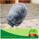 Guanto mezzo cinese del lavaggio di automobile della pelle di pecora del fornitore