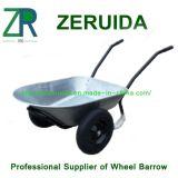 Wheelbarrow gêmeo da roda e do punho do aperto da espuma