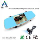 Volles HD 1080P 5 Zoll IPS-Bildschirmrearview-Spiegel Dashcam