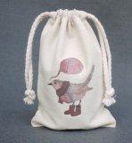 Mini sac en coton personnalisé en coton, sac à rayures en toile, sac cadeau