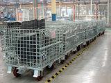 Zusammenklappbare industrielle stapelbare Metalldraht-Ineinander greifen-Behälter