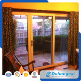 Porta branca do PVC do perfil com vidro Tempered
