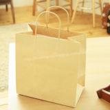 Sacos de mão da compra de Brown/papel de embalagem Com corda do punho
