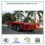 Reboque Flatbed do caminhão de 3 chassis do recipiente do eixo para o transporte de recipiente de 40FT de 40t