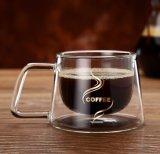 Новая творческая ясно стеклянная чашка стены двойника кружки кофеего для магазина