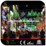 LEIDENE van het Gebruik van Kerstmis de Lichten van de OpenluchtDecoratie van de Straat