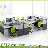 4 사람을%s 새로운 디자인 L 모양 사무실 워크 스테이션