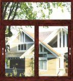 Ventana de desplazamiento de aluminio de la ventana del balcón del vidrio Tempered del marco