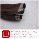 Extensions personnalisées de cheveux humains de Remy avec la chiquenaude