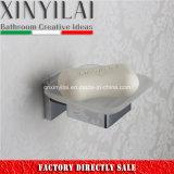 Тарелка мыла ванной комнаты квадратная при установленная стена держателя крома латунная