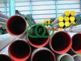 Tubo de acero alineado plástico