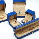Rectángulo de empaquetado del rectángulo del regalo plástico azul de lujo de la joyería para la pulsera