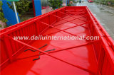 semirimorchio a base piatta del Lato-Deposito 3-Axle con il muro laterale a colori il colore rosso