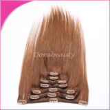 卸し売りRemy Human Hair Extension 7PCS Pre-Colored Clip Hair