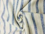 De alta calidad francés Terry CVC 95/5 hilo de algodón teñido de rayas Tejido de punto