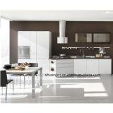 Moderner und einfacher hoher Glanzfarbe-fertiger kleiner Küche-Schrank