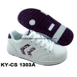 China Fashion Casual Skateboard Shoes PU Superior com Rb Sole para Lady and Kids