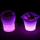 Cubo de gelo iluminado LED Cubo de gelo de estanho Cubo de gelo refrigerador grande