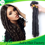 공장 가격 고품질 100% 브라질인 Virgin 인간적인 길쌈 머리