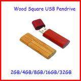 Aandrijving van de Flits USB van Pendrive van het Geheugen van de Flits USB de Houten Vierkante