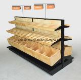 Cremagliera di visualizzazione moderna del dettagliante, banco di mostra di legno