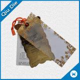 Crear las etiquetas recicladas de la caída para requisitos particulares de los pantalones vaqueros del papel de Kraft