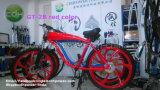 Roue en alliage de pouce de 26 pouces Bicyclette en couleur rouge, cadre de gaz, réservoir de gaz construit en chaîne de vélo motorisée Production de Chine