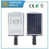 Tiempo de carga 6 horas de movimiento del sensor LED de luz de calle solar