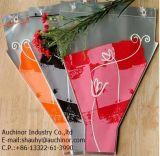 부대 단 하나 로즈 꽃 소매를 감싸는 플라스틱 꽃 포장 부대