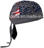 주문품 로고에 의하여 인쇄된 면 선전용 미국 국기 두개골 모자 자전거 타는 사람은 Headwrap를 캡핑한다