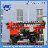 Equipement de forage de piles photovoltaïque (PV) à percussion mobile hydraulique (HG300-L)