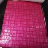 Glänzendes Krokodil Belüftung-synthetisches Leder für Handtasche