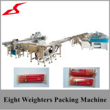 Vela Full-Automatic que pesa empacotando a máquina de embalagem com 8 linhas