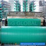 Tissu tissé par polypropylène vert dans une Rolls